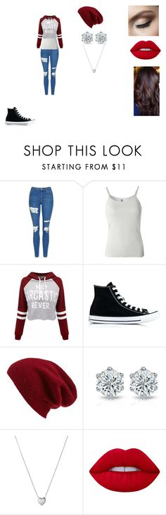 """""""Untitled #421"""" by nala1220 on Polyvore featuring Topshop, B. Ella, Converse, Halogen, Links of London, Lime Crime and GURU"""