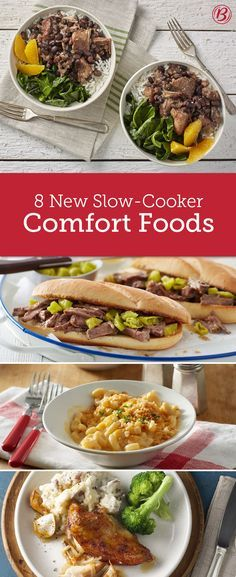 Slow cookers are the ultimate tool for preparing delicious fix-and-forget comfort foods the whole family will love! From Mississippi roast beef sandwiches to a macaroni and cheese recipe that'll knock your family's socks off, these new recipes are sure to become instant classics.