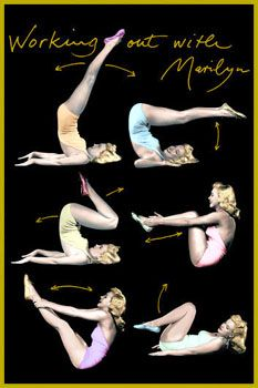 Some of the stretches/ exercises that gave Marilyn her great figure.