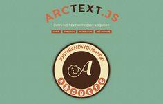 Arctext.js: jQuery-Plugin ermöglicht gekrümmten Text auf Websites