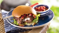 Garlic Cheese-Stuffed Burgers - Cooking Club - Scout