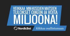 Ennusta otteluiden lopputulokset ja voita miljoona euroa  http://puoliaika.com/?p=10056 ()