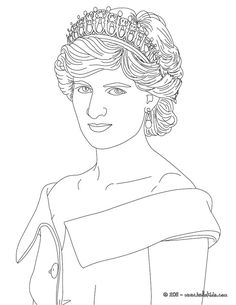 royal king and queen coloring pages princess diana of wales coloring page