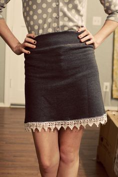Sweatshirt skirt DIY.  And this is my all-time favorite photographer/source of inspiration. :)