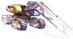 Concept vehicles Sick Drawings, Construction Machines, Truck Design, Motorcycle Design, Cool Sketches, Heavy Equipment, Sketch Design, Portfolio Design, Concept Cars