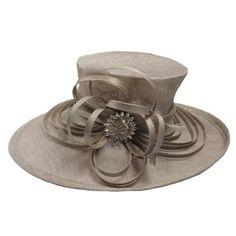 Large Oval Brim Sinamay Hat
