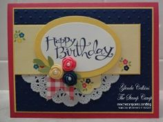 card made with the stampin up's new press clay
