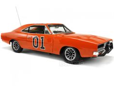 """Diecast Cars :: Dodge :: Charger :: 1969 Dodge Charger R/T """"Dukes of Hazzard General Lee - Elite"""" 1:18 Scale - AutoWorld Diecast Model"""