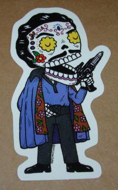 RICK AND MORTY muertos MUERTO Art Sticker Print DIA DE LOS JOSE PULIDO