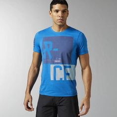 Reebok - Reebok CrossFit Performance Blend Graphic T-shirt Crossfit Shirts, Reebok Crossfit, Athletic Outfits, Athletic Clothes, Workout Attire, Mens Fitness, Shirt Designs, Graphic Tees, Mens Tops