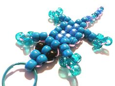 Lizards of Love  Turquoise and Teal Key Chain  For by WeirdlyItsMe, $4.25
