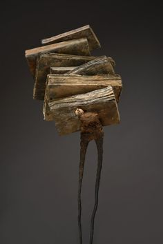 Poet-books-2015-technical-mixed-h-106-cm