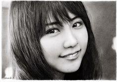 Kasumi Arimura pencil drawing 有村架純 鉛筆画