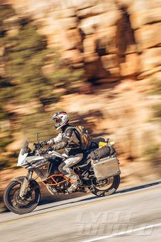 The KTM bristles with modern electronics.