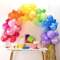Balloon Arch Kit Party Balloons Confetti Balloons & Rainbow Balloons for Happy Birthday Balloons, Rainbow Party, Unicorn Party Supplies & More 70 Balloons Ft Tall When Assembled Rainbow Balloon Arch, Balloon Arch Diy, Rainbow Theme, Balloon Garland, Rainbow Baby, Balloon Display, Rainbow Pinata, Balloon Backdrop, Rainbow Party Decorations