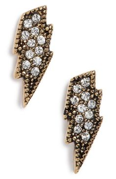Free shipping and returns on MARC JACOBS MJ Coin Lightning Stud Earrings at Nordstrom.com. Edgy lightning-bold studs encrusted with dazzling Swarovski crystals make a striking addition to your look.