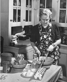 Old days, when everything was made from Scratch.  MY GRANDMOTHER COOKED FROM SCRATCH [ MISS LIB ] AND MY MOTHER LIZ DID ALOT THAT'S WHY ALL OF GILES'S CHOCOLATE PIES WERE DIFFERENT   E HAMM