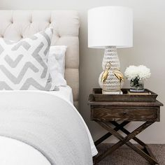 Oly Pipa Table Lamp and the Montmarte Bed #bedroom #hamptons #interiordesign