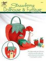 "strawberry dollhouse & furniture from ""annie's attic""  http://www.anniesattic.com/plastic_canvas/detail.html?prod_id=88308"