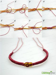 Make the Alpine Bend for rest knot friendship bracelet portion