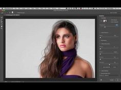 """How to Mask Hair Using Photoshop's New """"Select and Mask"""" Feature - YouTube"""