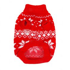 USD $ 8.99 - Christmas Style Snowflakes Pattern Sweater for Pets Dogs (Assorted Sizes)