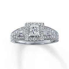 Brides.com: 64 Engagement Rings Under $5,000. SKU: 990644609, Neil Lane Bridal® 14K White Gold 1 Carat t.w. Princess-Cut Diamond Ring (Total Diamond Weight: 1 carat), $3,499.99, Neil Lane for Kay  See more princess-cut engagement rings.
