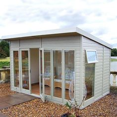 The Malvern Studio Pent is a garden office/summerhouse is available from GBC Group in a choice of timber finishes and a range of sizes. Pergola With Roof, Wooden Pergola, Pergola Shade, Diy Pergola, Pergola Plans, Pergola Kits, Backyard Studio, Garden Studio, Shed Design