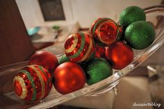 vidro com bolas de natal - Pesquisa Google