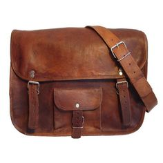 Bohemian Half Flap Leather bag Leather Messenger Bag School bag ($43) ❤ liked on Polyvore featuring bags, messenger bags, accessories, purses, bolsas, brown leather bag, zipper bag, courier bag and zip bag