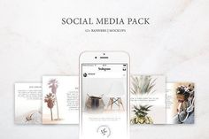 Social Media Pack / Kit 2 by Blossom on @creativemarket Social media creative design posts for promotion marketing design templates. Use it for quotes, tips, photos, etiquette, ideas, posts or for presentation your business agency, products sales or designs. Ready to use on Instagram, Pinterest, Facebook, Twitter your Blog or Website.