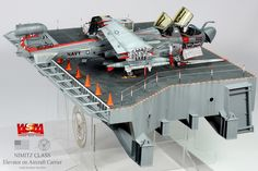 EA-6B & Elevator on Aircraft Carrier 1/48