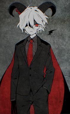 The Gray Garden Fanart Reficul Genderbend Anime Demon Boy, Evil Anime, Anime Oc, Manga Anime, Fantasy Characters, Anime Characters, Animes Yandere, Character Art, Character Design