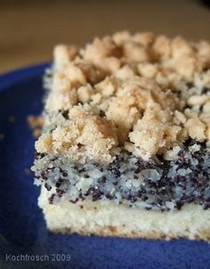 Mohnkuchen- German poppy seed cake...one of the best desserts paired with coffee
