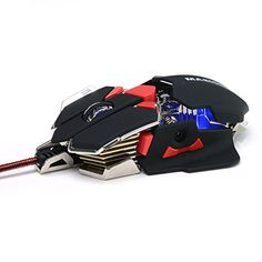 Masione® USB 4800DPI 10 Button LED Optical Gaming Mouse for PC and Laptop