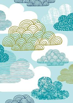 A new print to add to my weather-themed series! Blue Clouds is very similar to my I Love Clouds print, with a few additions and, of course, a…