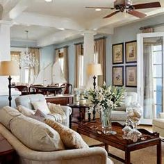 Image detail for -Decorating Hampton's Beach Style teal accents living room –