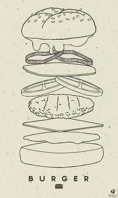 Illustration Relationship Goals power in relationships Branding Design, Logo Design, Graphic Design, Hamburger Drawing, Pinterest Instagram, Food Sketch, Food Drawing, Web Design, Chalkboard Art
