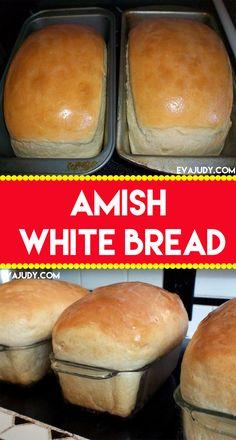 Amish White Bread Bread Bun, Bread Rolls, Gluten Free Dairy Free Bread Recipe, Amish White Bread, Bread Recipes, Cooking Recipes, Cooking Bread, Food Crafts, Sweet Bread