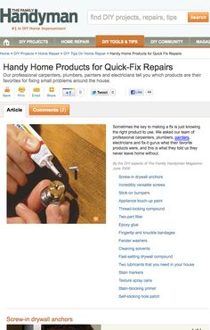 professional carpenters, plumbers, painters, electricians and fix-it gurus tell us what their favorite products are, and what they never leave home without.