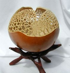 Gourd carved bowl- inspiration for clay