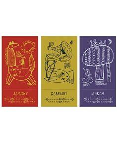 tito select (interior)(チトセレクト インテリア)の2014 CALENDAR (illustration:yamyam produced by dieci)