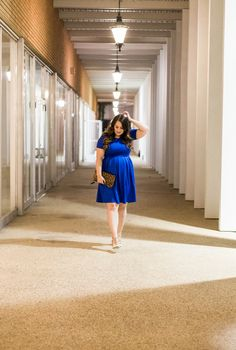 Throwing on a simple blue dress for any occasion helps you to feel glam and put together instantly! It's also the perfect color to wear for Fall!