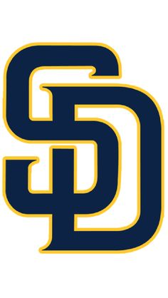 San Diego Padres Jersey Logo - SD in blue with yellow trim on white, worn on Padres home jerseys starting in 2016 San Diego Chargers, San Diego Padres, All Mlb Teams, Baseball Teams, Mlb Wallpaper, Kitty Wallpaper, Mlb Team Logos, Sports Logos, Sd Logo