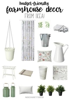 Looking for budget-friendly farmhouse decor and style? Check out this post with tons of ideas from IKEA! There are all types of items from planters to sheet and everything in between. Get that fixer upper or farmhouse look from IKEA on a budget