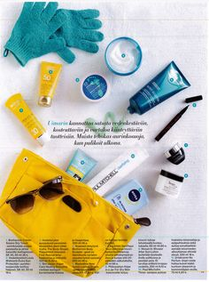 A lovely picture of our Saimaa Lemon Yellow baginbag in this weeks Anna magazine