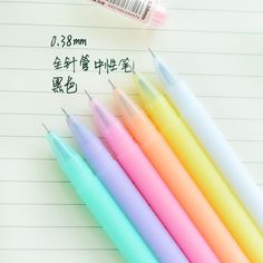6 pcs/Lot Jelly gel ink pen Crystal love 0.38mm black lapices pens Canetas Stationery Office accessories school supplies 6843