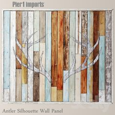 Antler Silhouette Wall Panel