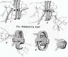 Learn how to make a Paracord Monkey Fist Knots and Keychain from Tutorials with instructions. Make cool paracord accessories using monkey fist knot. Rope Knots, Macrame Knots, Diy Knot Earrings, Monkey Fist Knot, Paracord Monkey Fist, The Knot, Diy Gifts, Diy And Crafts, Decor Crafts