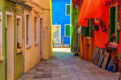 #Colorful #houses, #Burano, #Italy.